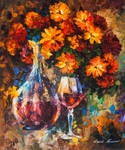 Roses And A Jar by Leonid Afremov