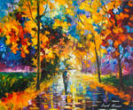 Alone Around Leaves by Leonid Afremov