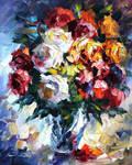 Roses by Leonid Afremov