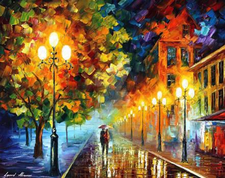 Romantic Moon Night by Leonid Afremov