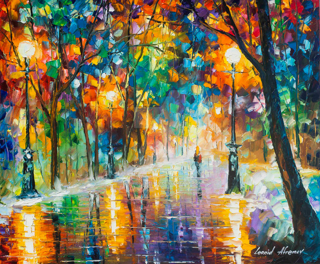 Winter Colors Of Love by Leonid Afremov