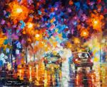 Rain Over The Boulevard by Leonid Afremov