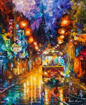 The Rails Of The Night by Leonid Afremov