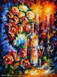 RED WINE IN THE NIGHT by Leonid Afremov