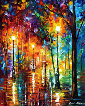 Late evening stroll by Leonid Afremov