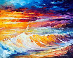 GOLD WAVES by Leonid Afremov