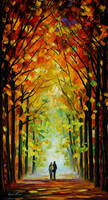 Altar Of Trees by Leonid Afremov