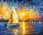 Sailing In Cancun by Leonid Afremov