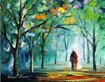 Fog Of Sweet Love by Leonid Afremov