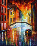 The Canals Of Venice At Night by L.Afremov