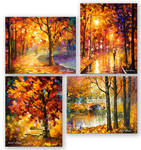 My 4 most favorite fall paintings