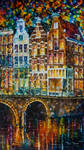 Old Buildings of Amsterdam by Leonid Afremov