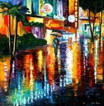 Miami Night by Leonid Afremov