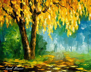 The Leaves That Never Fall by Leonid Afremov