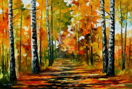FIESTA OF BIRCHES BY LEONID AFREMOV