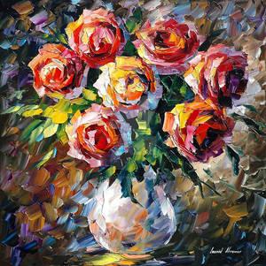 Rose For by Leonid Afremov