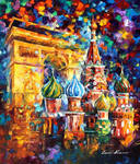 From Paris To Moscow by Leonid Afremov