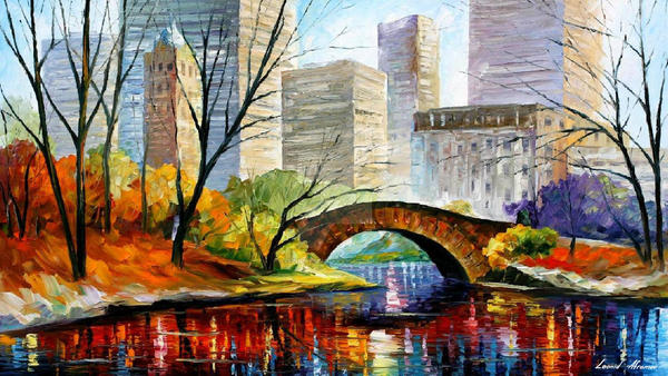 Central Park - New York 2 by Leonid Afremov