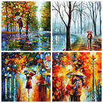 set of 4 Romance giclees