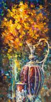 Red Vase by Leonid Afremov