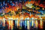 Inviting Harbor by Leonid Afremov