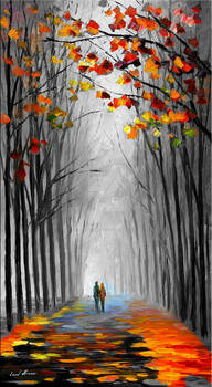 Forest Path By Leonid Afremov