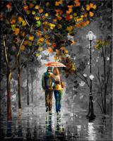 Autumn Walk By Leonid Afremov