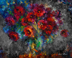 Red Flowers by Leonid Afremov