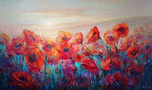 Evening Poppies by Andrey Boravik