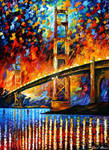 San Francisco - Golden Gate Bridge by L. Afremov