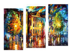 Enigma Of The Night - Set Of 3 by Leonid Afremov