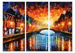 Farewell Sunset - Set Of 3 by Leonid Afremov