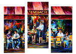 Cafe In Paris - Set Of 3