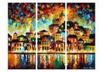 Lovely Evening Harbor - Set Of 3