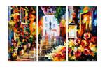 Lovely Street Of Flowers - Set Of 3