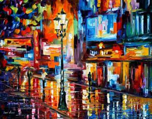 Downtown Lights by Leonid Afremov