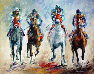 Horse Racing by Leonid Afremov