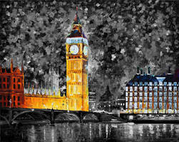Big Ben London  black and white