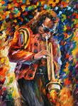 Legendary Miles Davis by Leonid Afremov