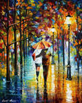 Under The Red Umbrella by Leonid Afremov