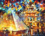 Louvre Museum At Night by Leonid Afremov