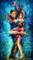 Beautiful Dance Duet by Leonid Afremov