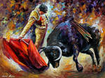 Corrida With Dangerous Opponent by Leonid Afremov