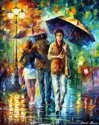 People Under The Rain by Leonid Afremov