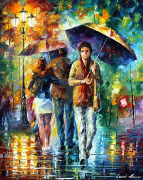 People Under The Rain by Leonid Afremov