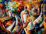 Bottle Jazz by Leonid Afremov
