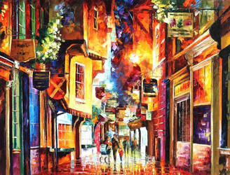 In The Streets Of London by Leonid Afremov