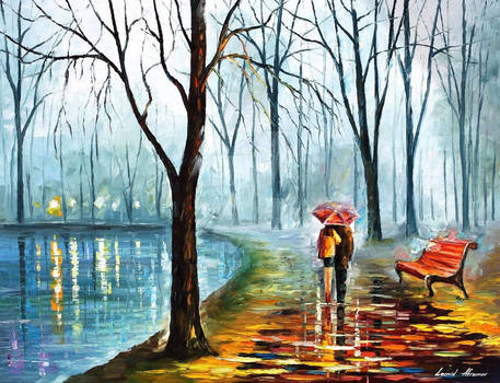 Inside The Rain by Leonid Afremov