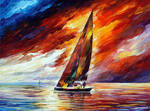 Into The Wind by Leonid Afremov
