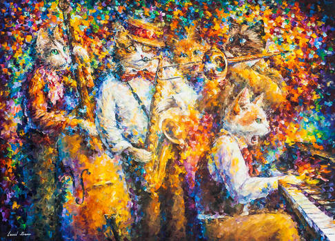 Jazzy Cats by Leonid Afremov
